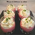 Mousse de betterave au chèvre