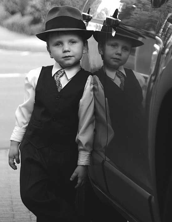 Child with suit