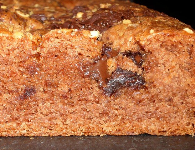 Cake choco pralin découpe