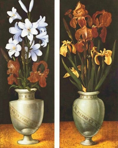 Ludger Tom Ring the Younger, A Vase with White Lilies and A Vase with Reddish-Brown and Yellow Irises, LWL-Museum für Kunst und Kultur