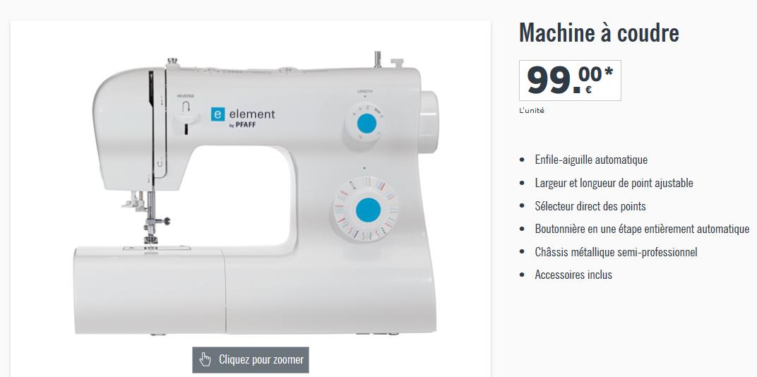 Nouvelle vente de machine coudre chez lidl la e for Machine a coudre 2016 lidl