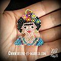 #brick stitch : frida kahlo