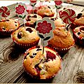 Cakes aux fruits rouges