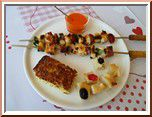 0233 - brochettes poulet chorizo à la plancha