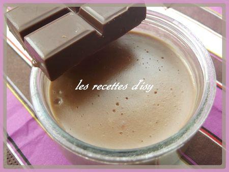 pot de crème chocolat caramel isy