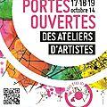 Portes ouvertes des ateliers d' artistes 17, 18 et 19 octobre 2014