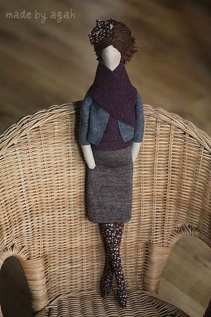 OOAK fabric doll Etsy 9