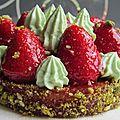 La tarte aux fraises inspirée par c. michalak !