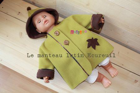 Manteau Lutin Ecureuil porté