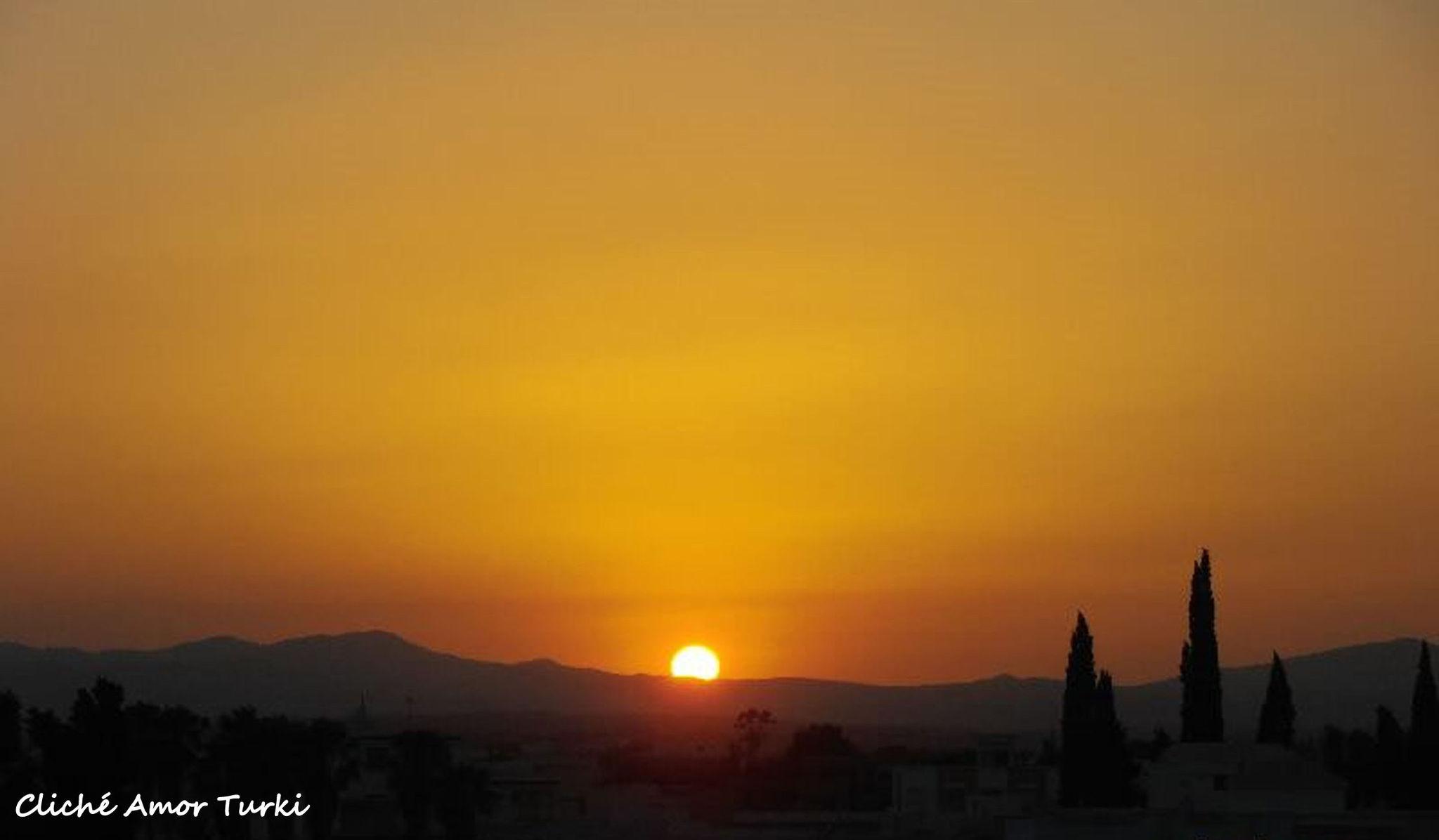 Coucher de soleil du dimanche 14 juillet 2013