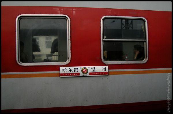 trains de Chine grande vitesse et petite vitesse 01