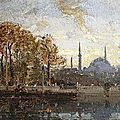 Henri Duvieux (1855 - 1920), Dbarcadre  Istanbul en automne