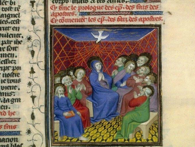 Enluminure de la Bible - Guiard des Moulins, Bible historiale, France, Paris, XVe siècle