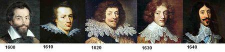 Le col de 1600 à 1650