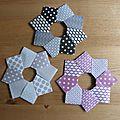 Id de déco de noel : une étoile en papier origami