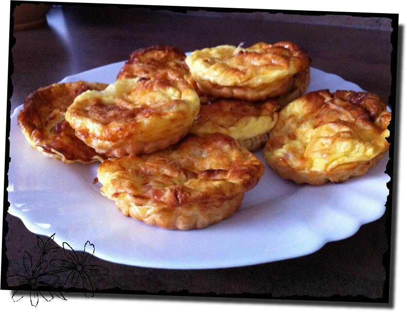 mini quiche lorraine sans p te les plaisirs gourmands de thd. Black Bedroom Furniture Sets. Home Design Ideas