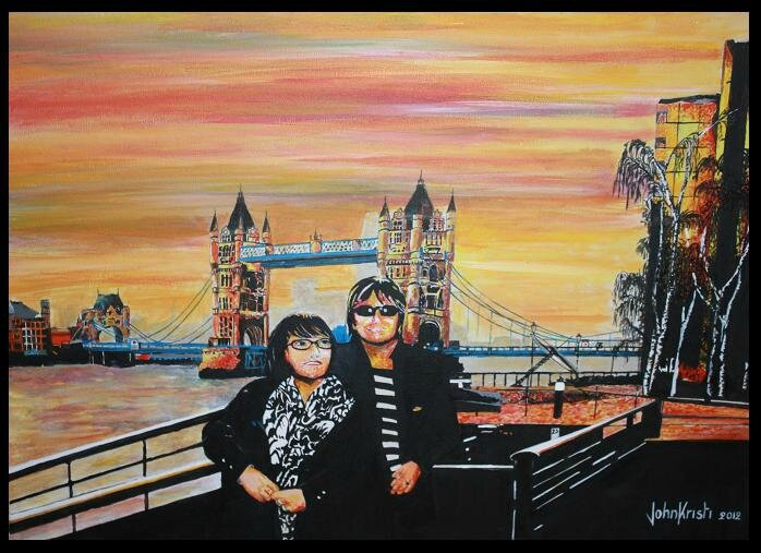 She and me in London town