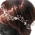 Couronne mariée Bijou de tête accessoire cheveux