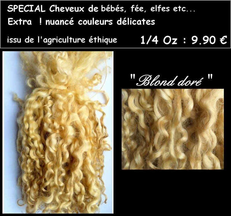 cheveux fee blond dore