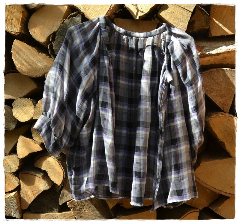blouse carreaux