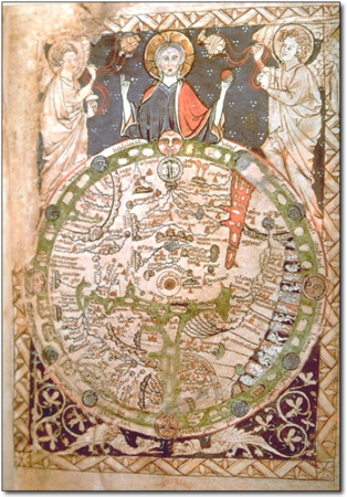MAP PSALTER ca 1265 Angleterre British Library