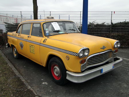 checker taxi cab 1961 1982 salon champenois vehicule collection reims 2011 1