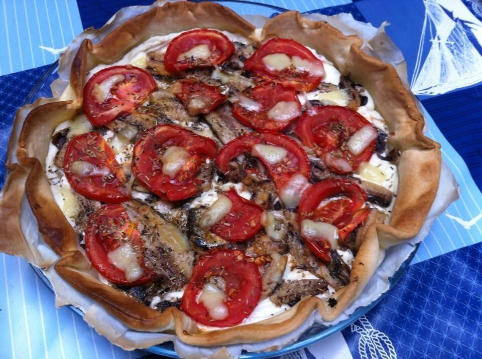 """ღ """" MIAM """" Tarte aux Sardines-Chèvre et Tomates"""