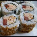 Californias Rolls crevettes cacahoutes tomates