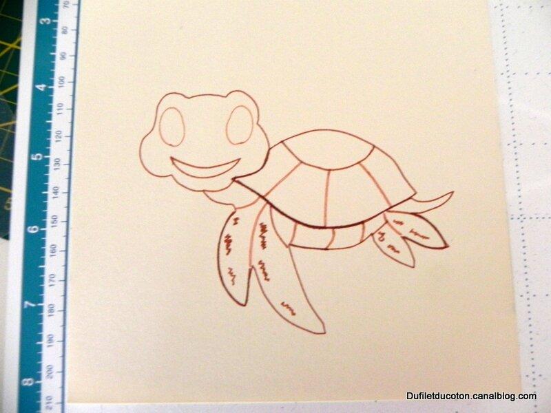 dessin de julie la tortue-001