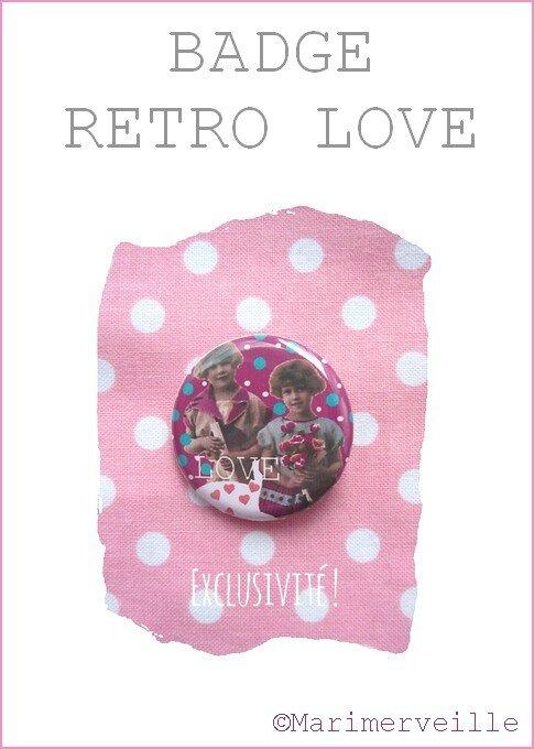 Badge rétro love Marimerveille