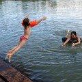 Leçon d'anglais et bain dans le lac