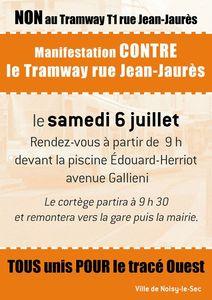 manifestation noisy-le-sec tramway 6 juillet 2013