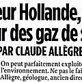 Claude allègre : le gaz de schiste une chance pour la france