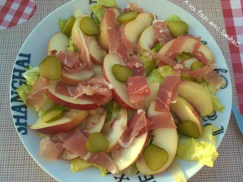 Salade jambon pêche 02