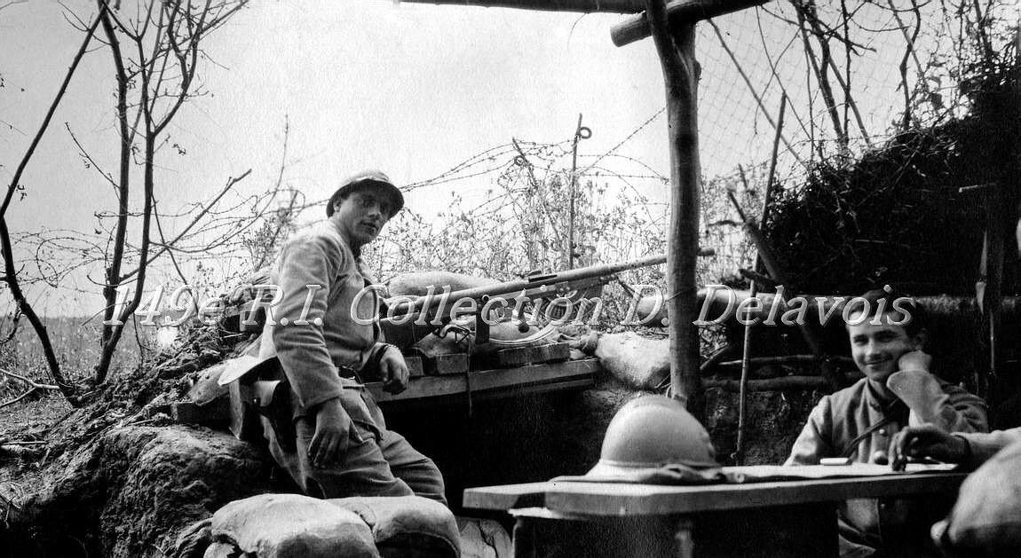 Petit poste en avant de la tranchée Bourdic (juin 1917)