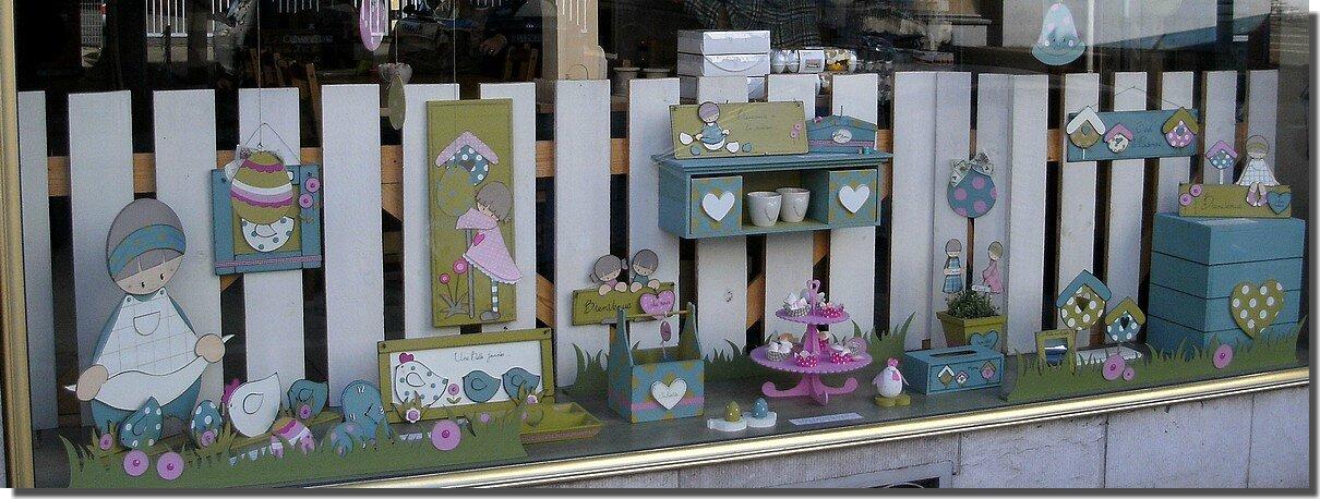 Nouvelle vitrine de printemps loisirs cr atifs - Decoration vitrine printemps ...
