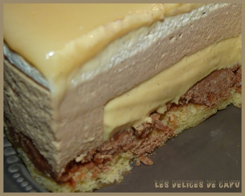 Entremets speculoos vanille1