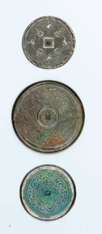 Three bronze mirrors, Warring States period and later