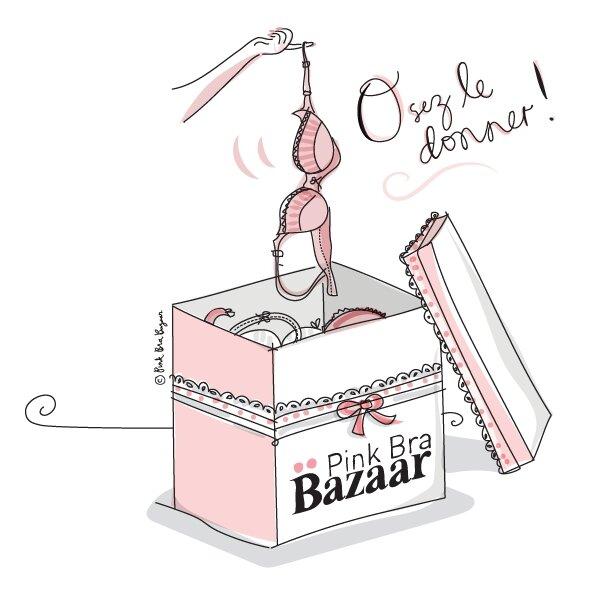 Octobre Rose/Pink Bra Bazaar Box : La collecte des soutiens-gorges ! J'ai déposé ma boîte rose..