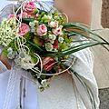 Mariage : accessoires de la mariée (le bouquet de la mariée )