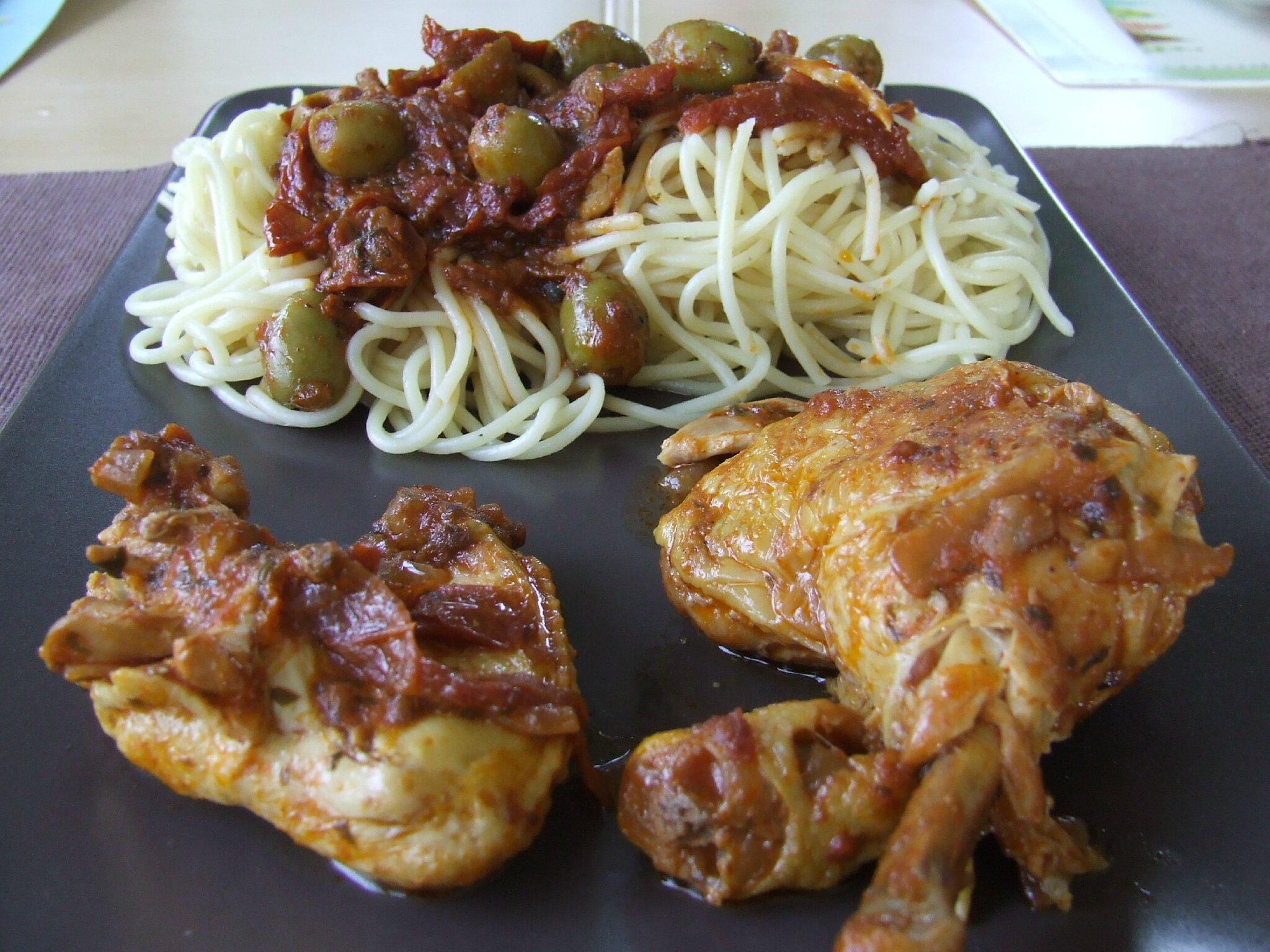 Tajine de poulet aux olives citron vert et tomates - Plat cuisine a congeler ...