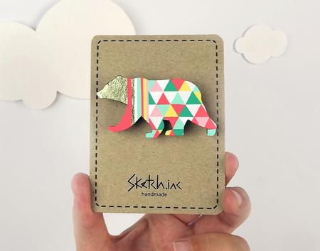sketch inc ours bear brooche