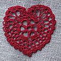 Un peu de romance... coeur rouge au crochet