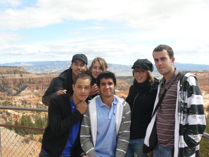 Bryce Canyon : Mickael, Benjamin, Sophie, Ségolène, Bruno, Xavie