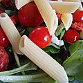 Salade pennes tomates chorizo