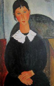 Elvire au col blanc Modigliani