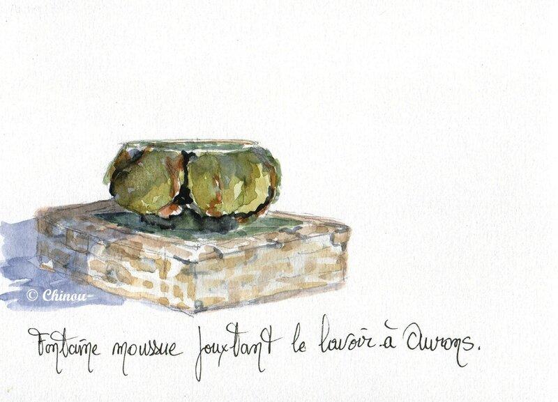16 Aurons fontaine moussue