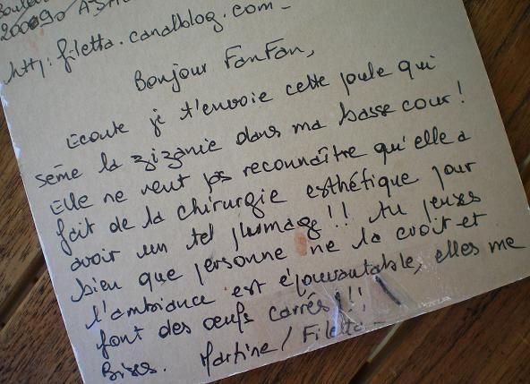 50~Poule pour FanFan verso