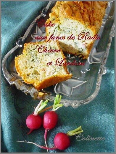 cake aux fanes de radis chèvre lardons 02