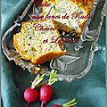 Cake aux fanes de radis lardons et chèvre